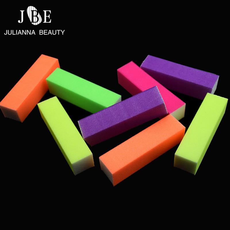4Pcs/Lot Sanding Nail File Buffer Fluorescent Block UV Gel Nail Polish Thick Nail Manicure 4 Way Cuticle Pusher Nail Buffer File(China (Mainland))