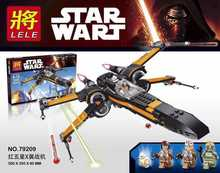 LELE 79209 Star Wars X-wing Starfighter Aircraft Minifigures Building Block Minifigure Toys Compatible With Lego