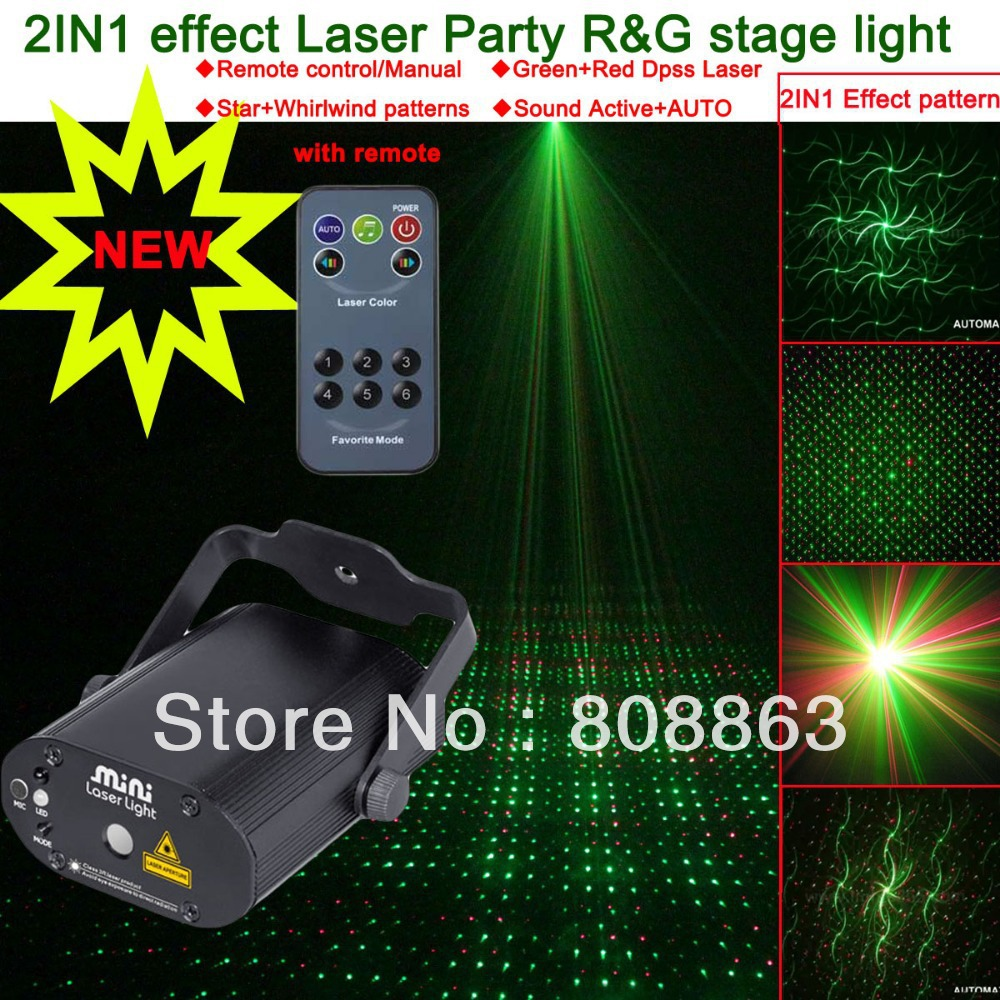 NEW Version 2in1 Whirlwind Pattern project Remote Green Red Laser Stage lighting dsico Dance Party DJ Light Show system d39 led