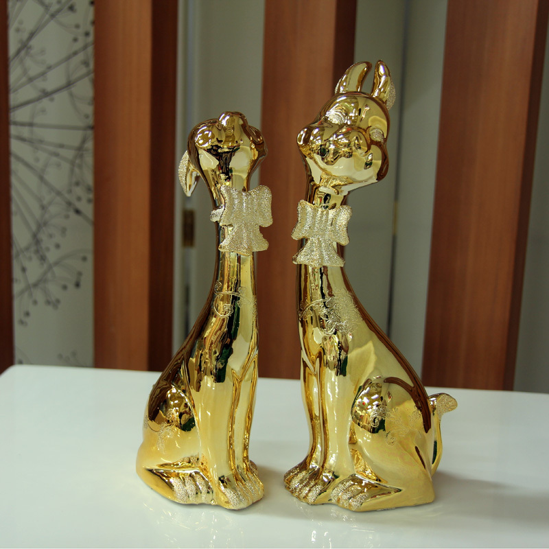 Cute couple rabbit ornaments fashion houses modern home accessories wedding decorations wedding gift decoration(China (Mainland))