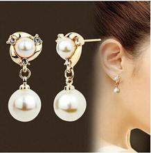 E548 koreanische vintage Kristall Frauen Brincos Version der Hochwertige wilde Perle Ohrringe Ohrringe hypoallergen Schmuck(China (Mainland))