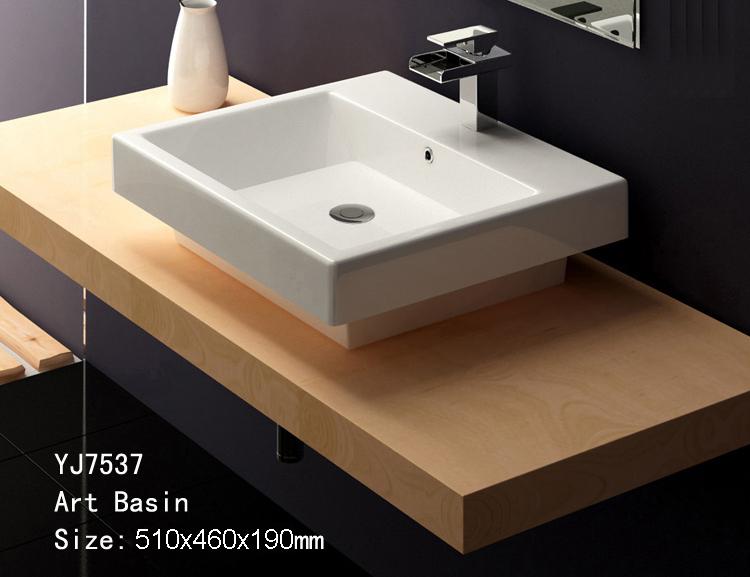 Bathroom Ceramic Counter top Wash hand Wash bowl Sink basin lavatory ...