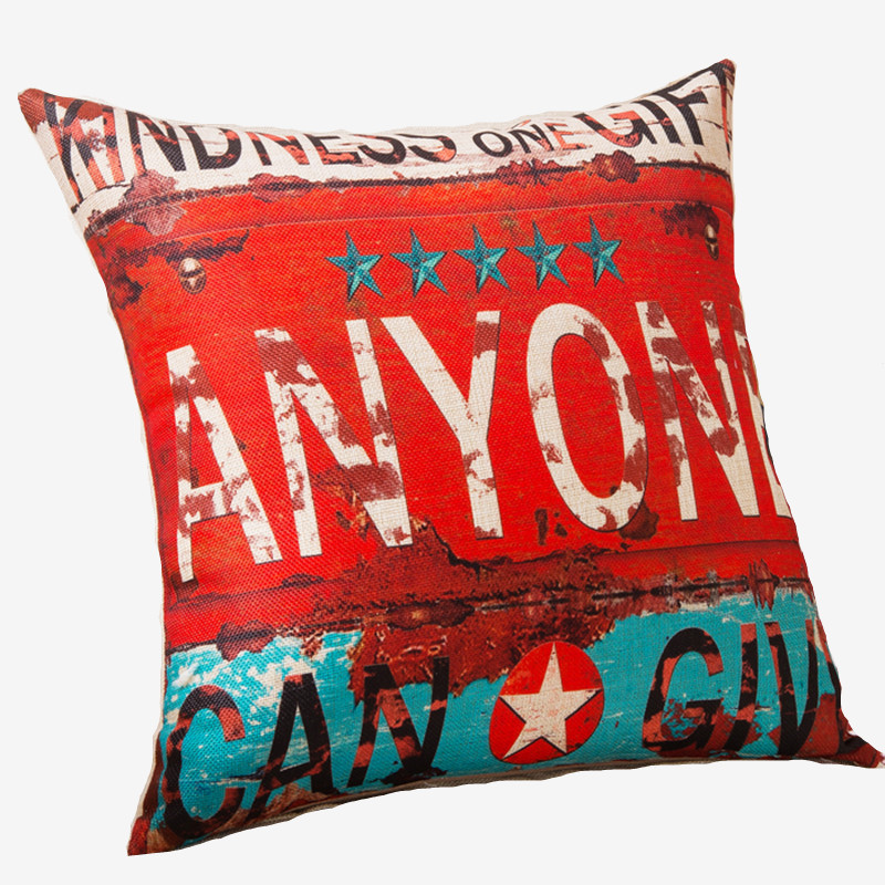 Rubihome new arrival letter words design decorative pillows cushion without inner polyester for sofa home decor