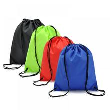 Womens Drawstring Backpack Solid Color School Backpack Girls Bookbag Sport Pack Pouch Blosas Bag Mochila Running(China (Mainland))