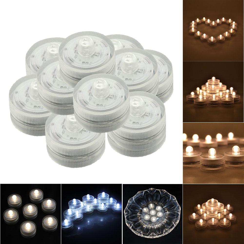24 pcs LED Candles Submersible Waterproof Wedding Underwater Tea LED Light Holiday Wedding Party Decoration Lighting(China (Mainland))