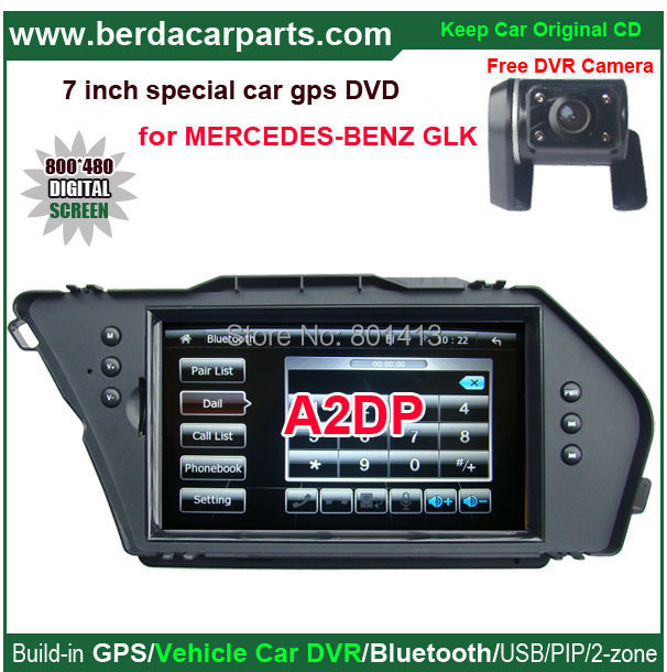 Vehicle DVR/GPS/Bluetooth/A2dp/PIP/functions for Mercedes-Benz-GLK with 7 inch touch screen digital LCD,USB/SD card<br><br>Aliexpress