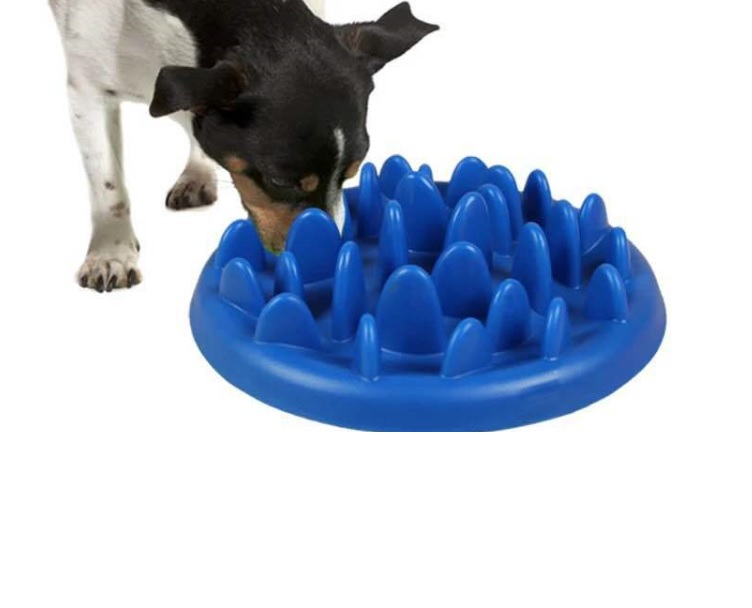 The choke educational slow digestion eat dog bowl Plastic 28 cm Large breed applicable(China (Mainland))