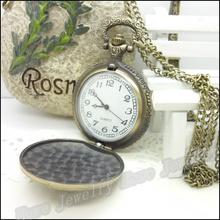 New Steampunk Quartz Dress Pocket Watch Sailboat Ship Vintage Style Bronze Necklace Pendant Chain Clock
