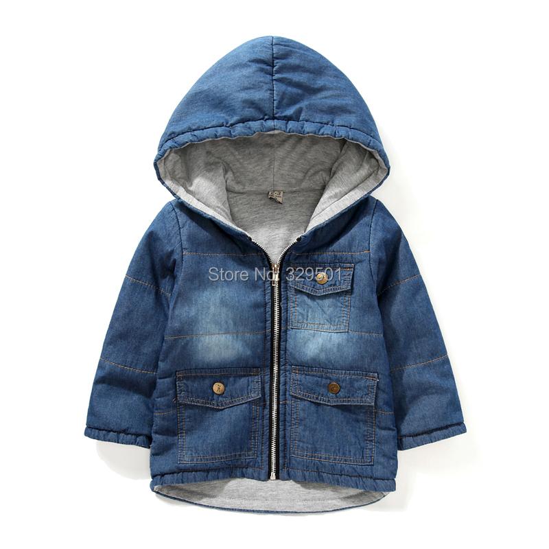 boys winter jackets coats kids cotton-padded jackets boys denim jackets kids jeans clothing baby winter outerwer child jackets<br><br>Aliexpress