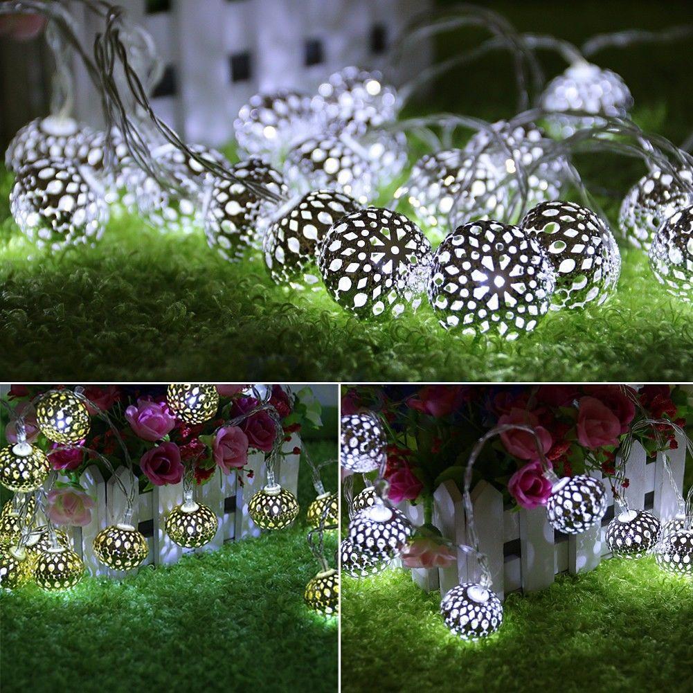 Wholesale- Moroccan 20 LED String Fairy Wedding Lights Lamp Xmas ...