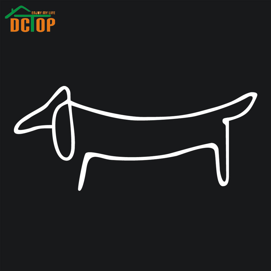 Dachshund Dog Car Stickers Window Vinyl Adhesive Car Styling Decals Waterproof Auto Accessories Hot Sale(China (Mainland))