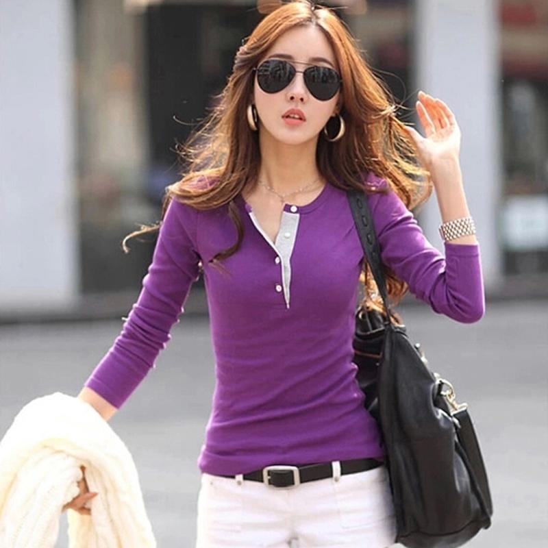 T Shirt Feminina Regular 2015 Summer Style V-neck Plus Size Women T-shirt Cotton Tees Solid Camisetas Femininas Casual T ShirtОдежда и ак�е��уары<br><br><br>Aliexpress