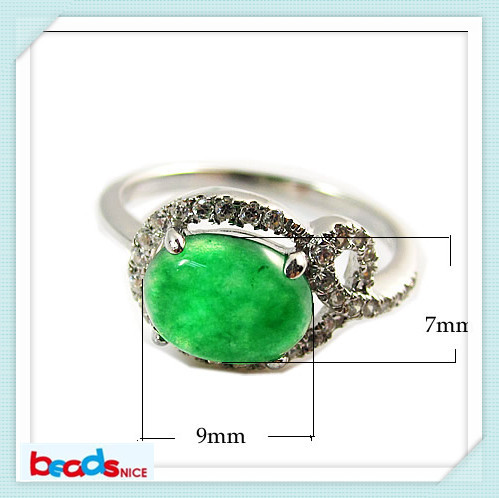 Min order is $10 mix order Beadsnice ID26394 925 rings with stones malaysian jade his and her rings of custom made rings<br><br>Aliexpress