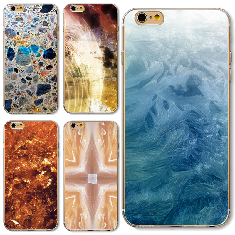 6/6S Soft TPU Cover For Apple iPhone 6 6S Cases Phone Shell Hot Popur Blue Marble Rock Stone Texture Customs Style(China (Mainland))