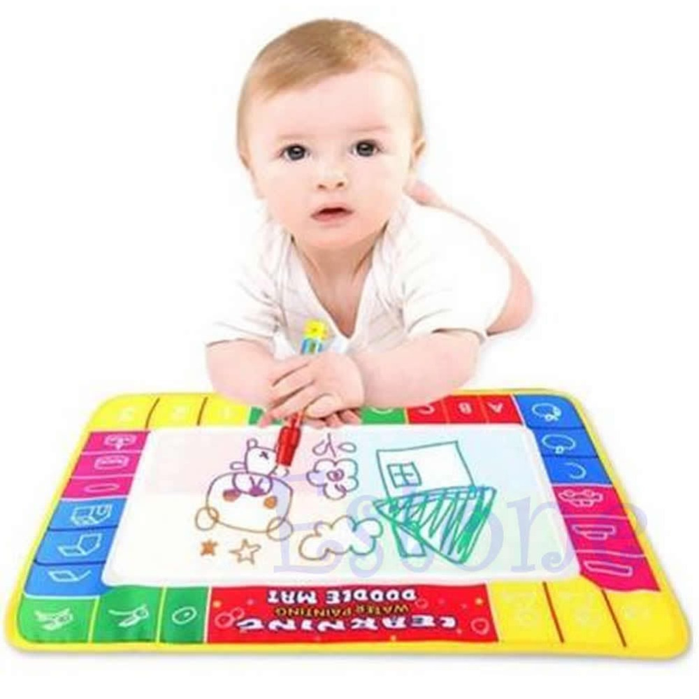 Free Shipping Child Kid Water Painting Drawing Writing Board Mat Magic Pen Learning Toy Gifts(China (Mainland))