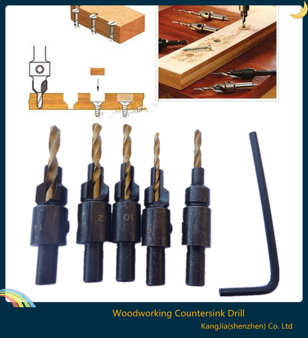 Buy 5pcs Countersink Drill Woodworking