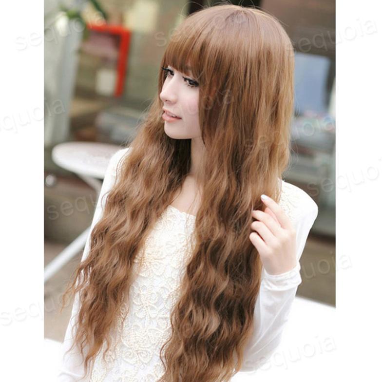 65cm Women Long Medium Ladies Girls Hot Sales Brown High Temperature Synthetic Hair Fashion Korean Wavy Wigs C5302(China (Mainland))