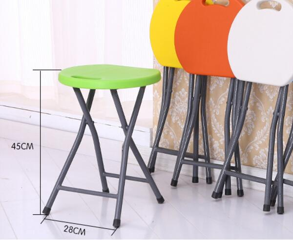 1PC Multi - function household simple small round stool outdoor folding chairs leisure stool fishing stool bathroom bench SY17D5(China (Mainland))