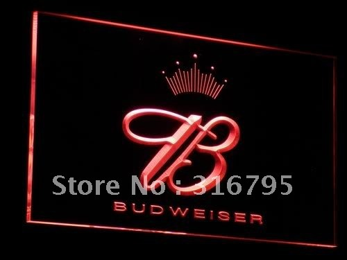 a006-r Budweiser King Beer Bar Pub Club LED Neon Sign with On/Off Switch 7 Colors to choose