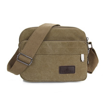 2016 new canvas bag handbag men women oblique satchel bags men messenger bag shoulder bagmore sturdy and durable Cross-section