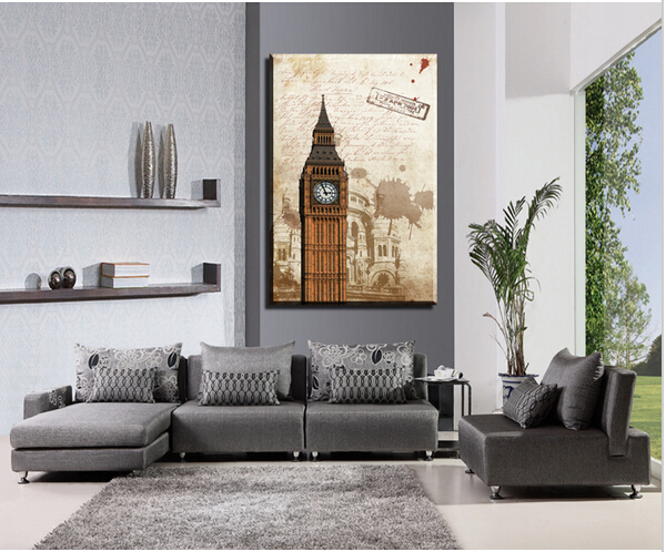 Buy Free Shipping 1 Piece Hot Sell Big Ben Modern Home Decoration Wall Decor
