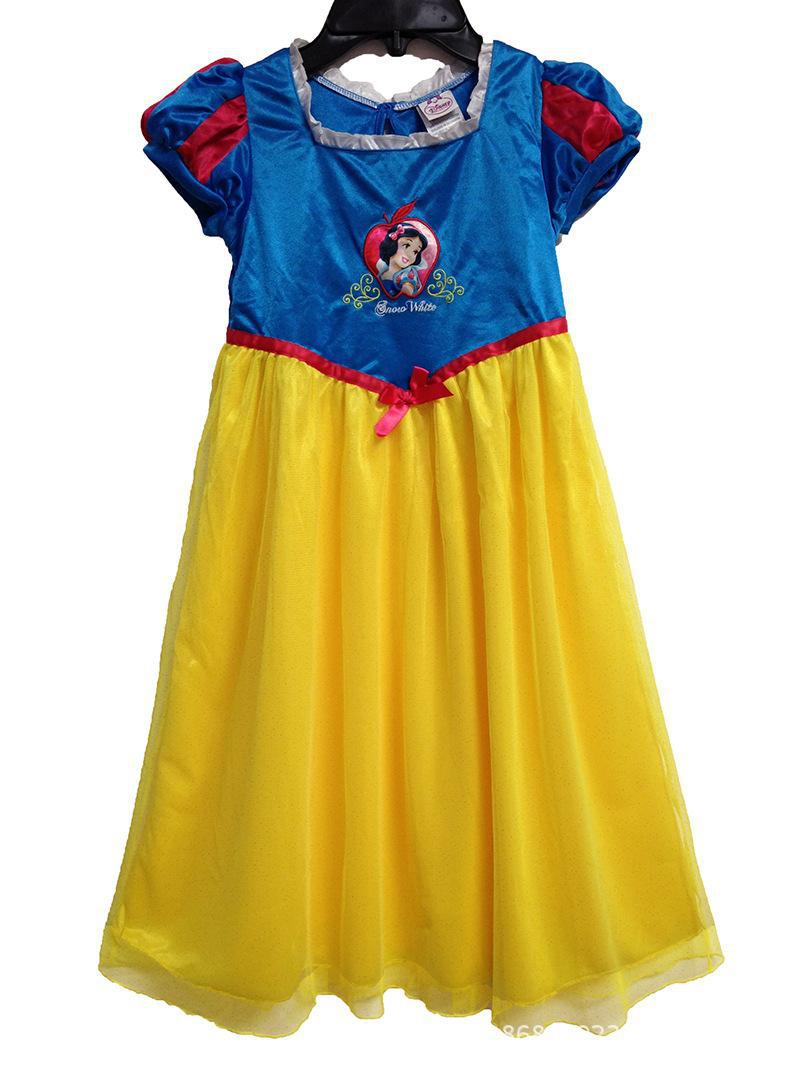 Perfect Quality Princess Snow White girls childrens kids dress summer short sleeve girl dresses fancy costume cosplay(China (Mainland))