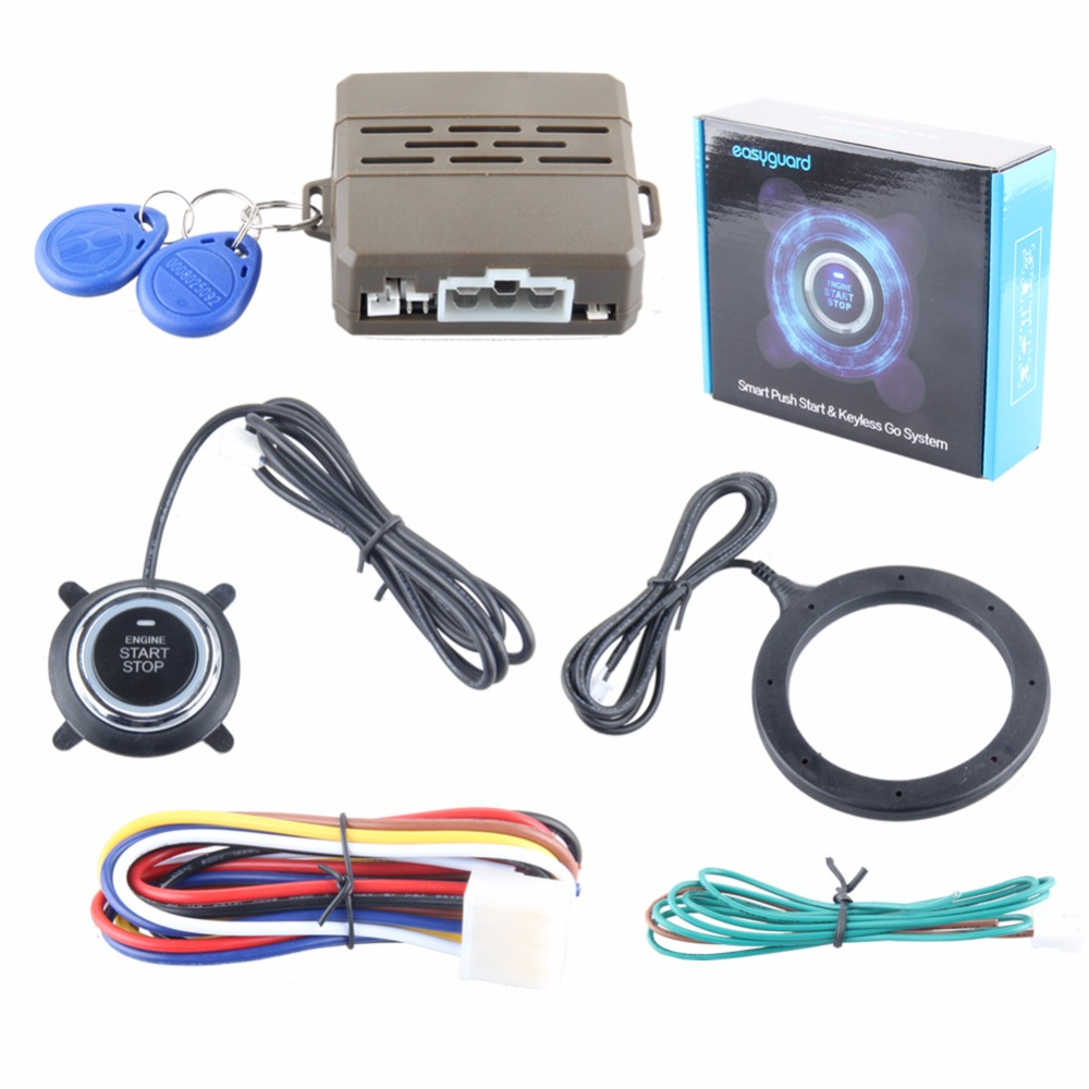 Performance stable RFID car alarm system with green or red running light push start button & transponder immobilizer(China (Mainland))