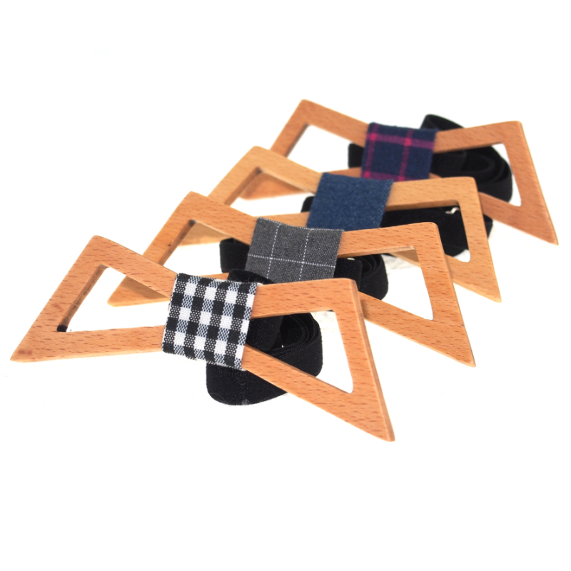 Good Hollow Wing Shaped Wooden Bow Ties for Men Wood Bowties Wedding Cravat Woman Bowknot Gift Gravata Leisure Noeud Papillon(China (Mainland))