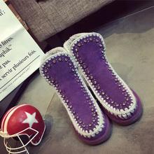 Berrendo Tobillo de Las Mujeres Botas de Piel Caliente Dentro de la Nieve Del Invierno Turn-over Borde de Moda Bordeado de Zapatos de Alta Calidad Botas de mujer(China (Mainland))