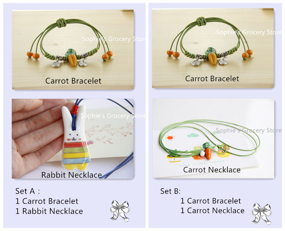 Jewelry sets of ceramic bracelets and necklaces new fashion cute lovely accessories wholesale - Wholesale home decor merchandise model ...