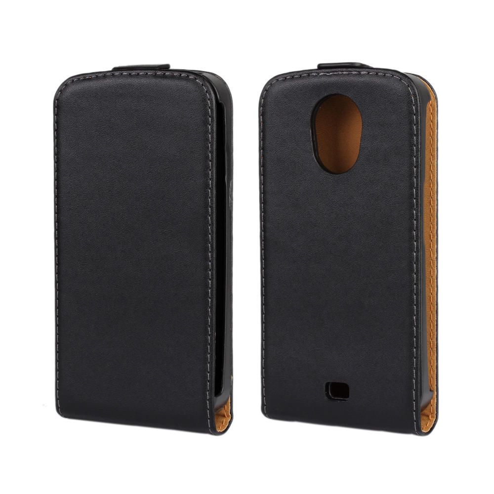 Genuine Leather Flip Cover Case for Samsung Nexus Prime/Galaxy Nexus i9250 + Free Shipping(China (Mainland))