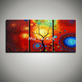 3 piece canvas wall art wall picture modern colorful acrylic hand painted oil painting red treeliving