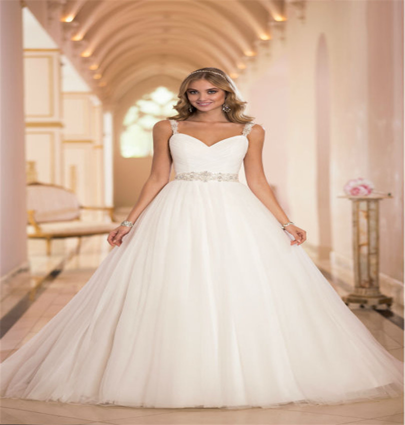 2016 Ball Gown Wedding Dresses Tulle Alibaba Beaded China Cheap Bridal Gowns Vestido de Noiva For Pregnant Brides(China (Mainland))