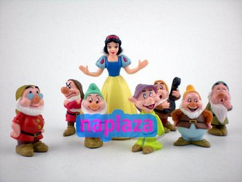 Cartoon Cute Princess Snow White and the Seven Dwarfs PVC Action Figure Doll Gift for our girl( 8pcs /set ) Free shipping