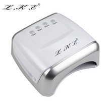 LKE 60W White LED UV Lamp Nail Dryer 365-405nm Gel Polish Curing Machine with Timer Auto-induction Nail Art Manicure Tool Gift(China (Mainland))