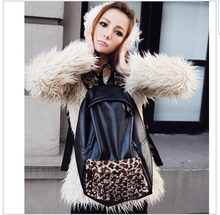 100% PU Leather Girls Designer Backpacks Leopard Print Latest School Bag  High Quality School Backpacks For Teenage Girls(China (Mainland))