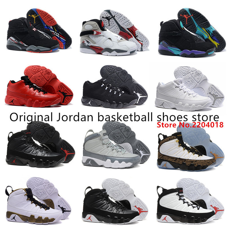 New Top sale new fashion Jordan 8 9 SHOES hot authentic 100% best quality RETRO Men fashion brand US 8-13 with box free shipping(China (Mainland))
