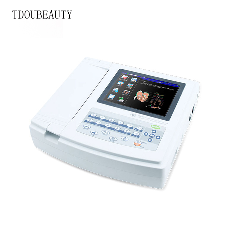 TDOUBEAUTY Download function ECG1200G Channels 12-Lead Channel Portable Digital ECG Machine Free Shipping European(China (Mainland))