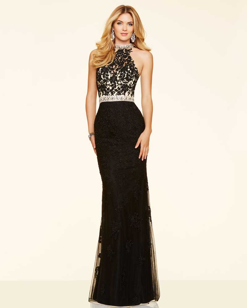 beaded black evening dress mermaid lace prom party dresses