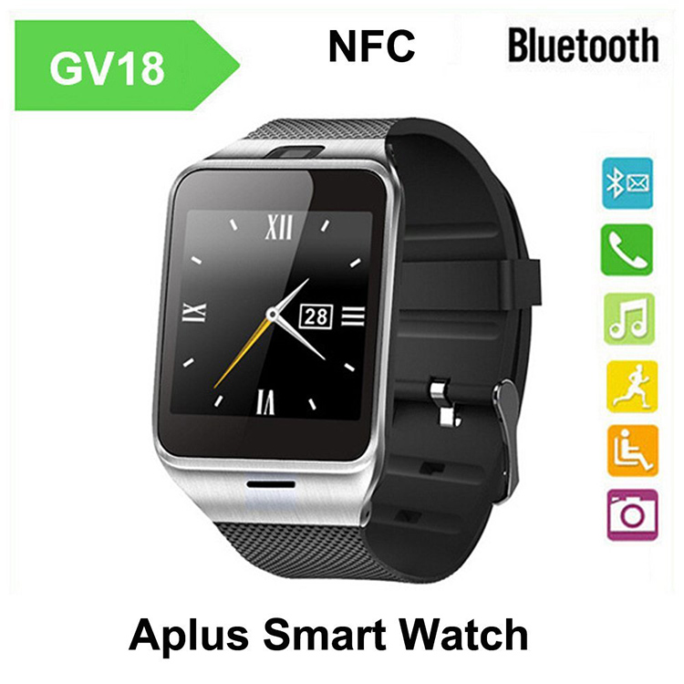 Waterproof Fashion Sport Aplus GV18 Bluetooth Smart Watch With Sim Wrist Watch Camera Bracelet Clock For Android/Samsung<br><br>Aliexpress