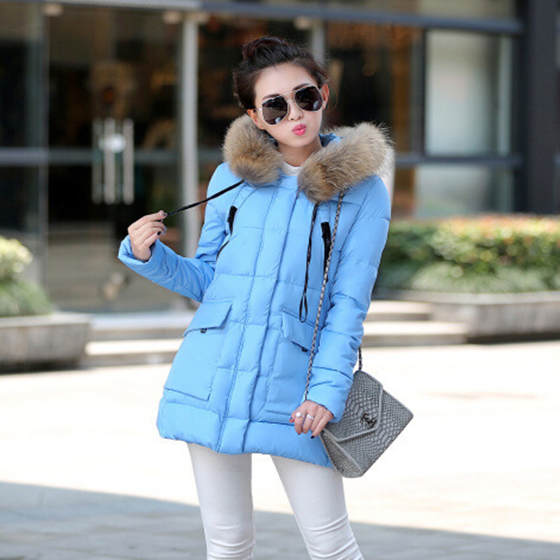 Womens winter jacket parka fur collar coat female plus size hooded pocket casual winter coat gray coats F770Одежда и ак�е��уары<br><br><br>Aliexpress