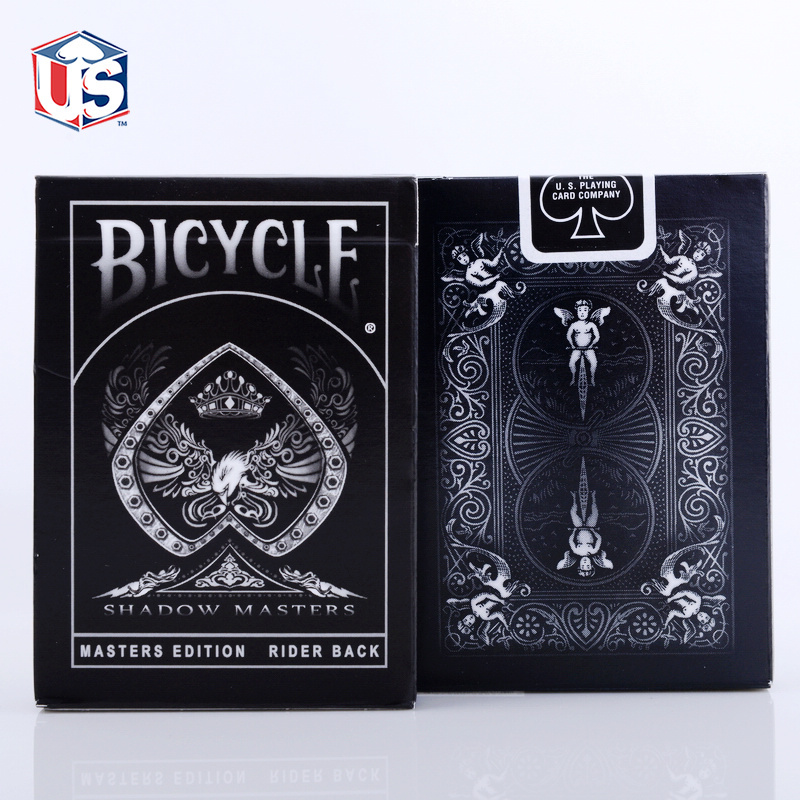 Shadow Masters Original Bicycle Shadow Playing Card Black Deck By Ellusionist Creative Poker Magic Props(China (Mainland))