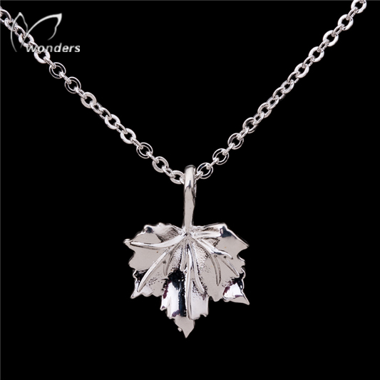 2015 30pcs/lot Gold Silver Nuture Botanical Jewelry Stainless Steel Charming Leaf Pendant Necklace for Women<br><br>Aliexpress