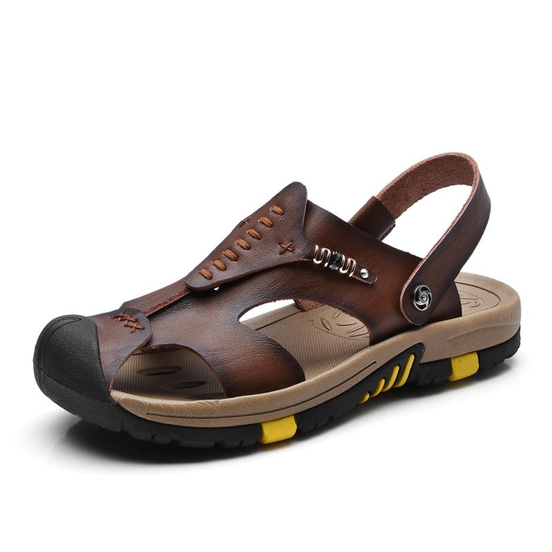 Fashion Summer Sandals Men Summer Shoes Casual Men Sandals Leather Sandalias Hombre Brand New