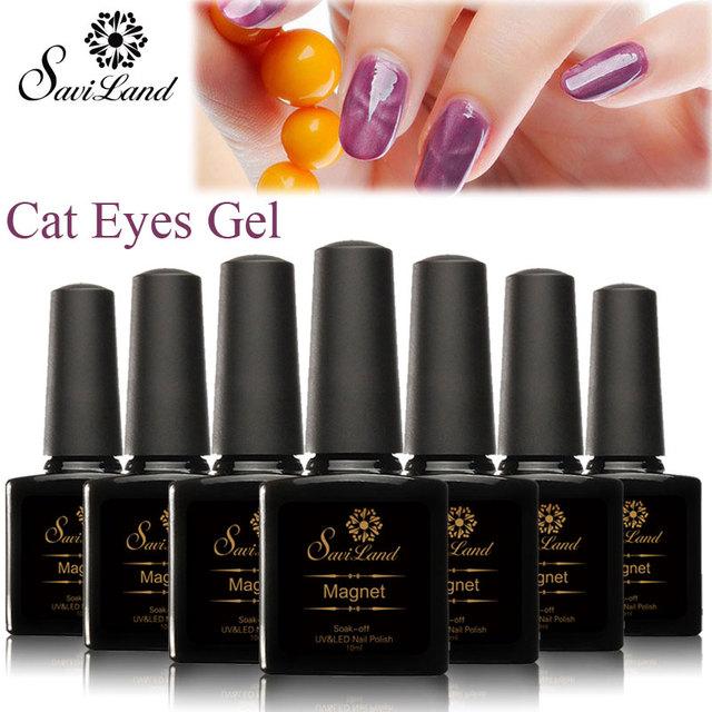 Saviland 3D магнит уф-лак гель-лак кошачий глаз цвета маникюр кошка цвета 10 мл здоровый ...