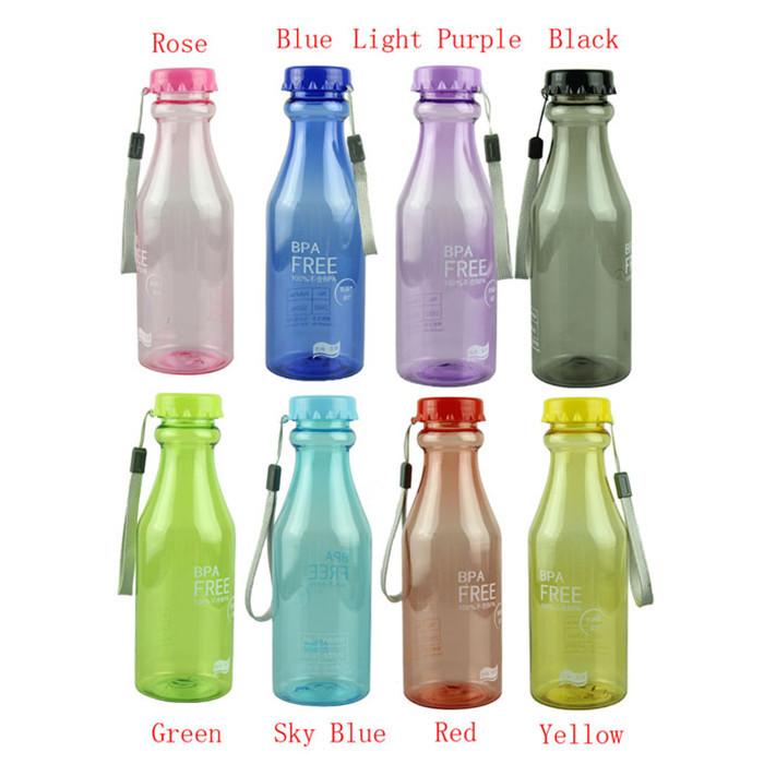 Hot sale New Fashion 550ml bpa free water bottle Bicycle Bike Sports Kettle Unbreakable Plastic Water Bottle garrafa de agua1pcs(China (Mainland))