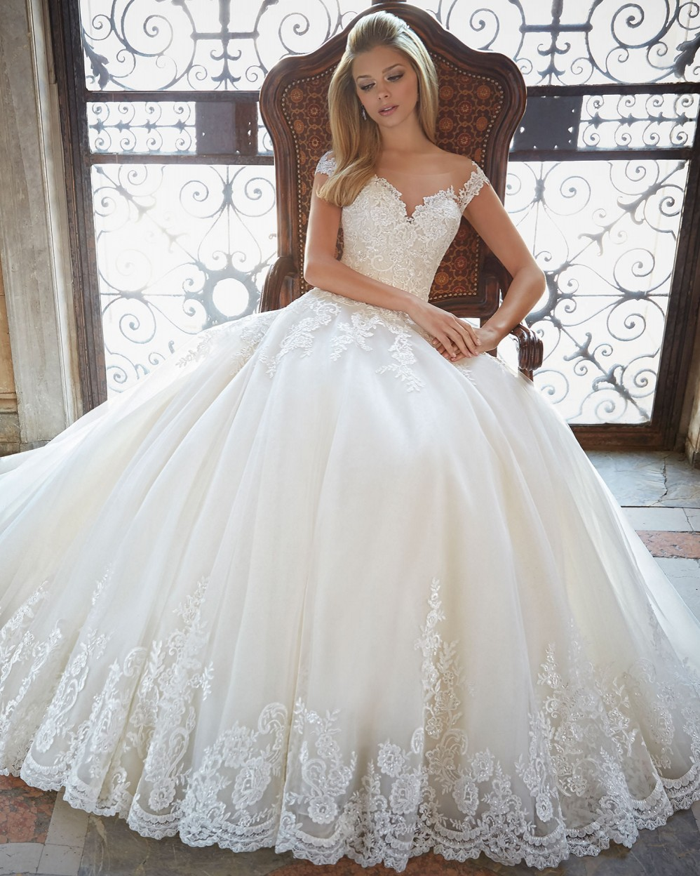 Princess Wedding Dress With Lace Top: Gown wedding dress simple lace ...