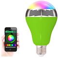 BL05 Wireless Bluetooth Speaker RGB Color Displayer LED Music Light Bulb Lamp Smart Phone Controlled Music