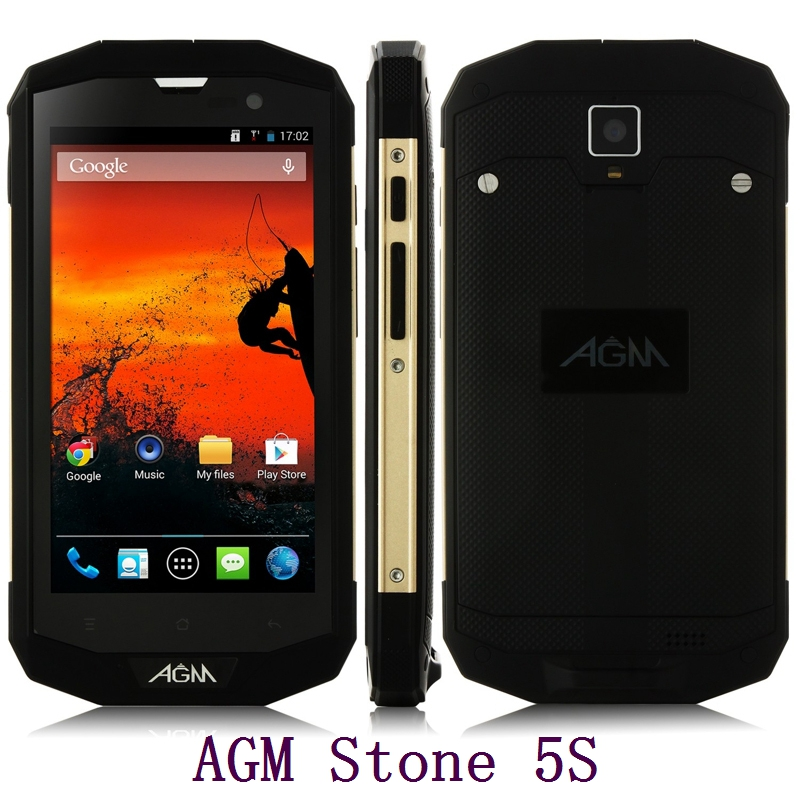 Original AGM STONE 5S 4G LTE IP67 Rugged Waterproof Mobile Phone Android MSM8926 Quad Core 5 Inch Touch Screen 8MP Camera GPS(China (Mainland))