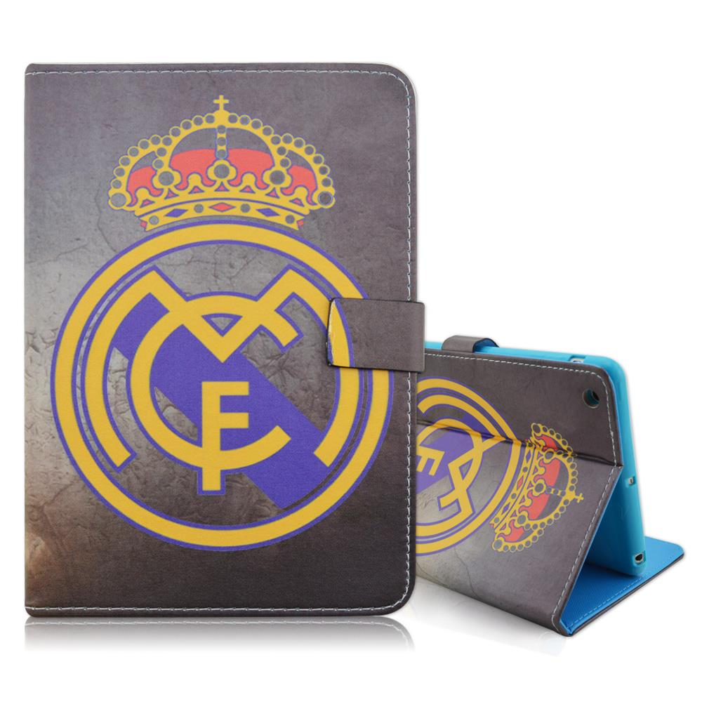 Football Club Durable Flip Folio Stand Soft Blue TPU PU Leather Tablet Cover Case for iPad Mini 1 2 3<br><br>Aliexpress